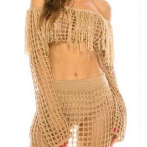 Tops - Crochet & Fringe Crop Top